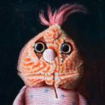 """Patrick"" (s) Öl auf Lwd, 20 x 22cm,2013"
