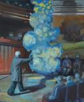 """""""Der Wissenschaftler"""" Öl/Lwd, 50 x 60 cm, 2012 / Privatsammlung Berlin"""