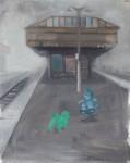 """""""Hunde"""" Öl/Lwd, 40 x 50 cm, 2014"""