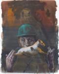 """Hundstück"" Öl/P, 52 x 72 cm, 2014"