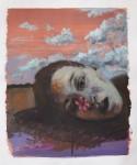 """""""Ich mag Blumen"""" Öl/P, 50 x 40 cm, 2014"""