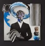 """Heute Kopflos"" Collage/Papier, 40 x 50 cm, 2013, Privatsammlung Berlin"