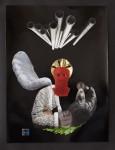 """""""Engel"""" Collage/Papier, 40 x 50 cm, 2012"""