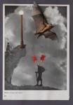 """""""Wolken Wallen und Wogen"""" Collage/Papier, 30 x 40 xm, 2009"""