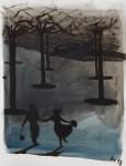 """""""Funny"""" Öl/P, 37 x 50 cm, 2014"""