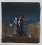 """""""Familie"""" Öl/P, 42 x 46 cm, 2014"""