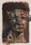 """o.T."" Öl/P, 45 x 40 cm, 2014"