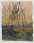 """""""Der Maschinist"""" Öl/P, 50 x 70 cm, 2014"""