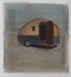 """""""Bin schwimmen"""" Öl/P, 70 x 70 cm, 2014"""