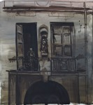 """""""Eines Tages grau"""" Öl/P, 70 x 80 cm, 2014"""