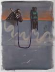 """Nach Sonnenuntergang"" Öl/P, 65 x 50 cm, 2014"