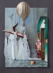 """""""Zufall II"""" Collage auf Papier, ca. 40 x 30cm, 2012"""