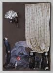 """""""Nachmittagsvorstellung"""" Collage auf Papier, ca. 40 x 30cm, 2012"""