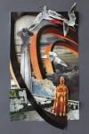 """""""Zufall"""" Collage auf Papier, ca. 40 x 30cm, 2012"""