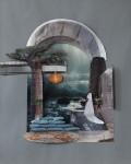 """Das Boot"" Collage auf Papier, ca. 40 x 40cm, 2012"