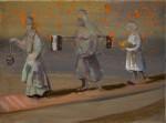 """""""Prozession"""" 30x40cm, Öl auf Lwd, 2015"""