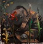 """""""o.T."""" (Nr. 999) 40x40cm, Öl/Lwd, 2015"""