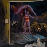 """o.T."" 50x50cm, Öl auf Lwd, 2015"