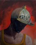 """""""Mann im Hut"""" 50x40cm, Öl auf Lwd, 2015"""