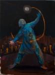 """""""Der Kugelblitz"""" 40x30cm, Öl auf Lwd, 2015"""