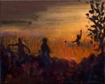 """Im Feld"" Stefanie Hillich, 24x30cm, Öl auf Lwd, 2015"