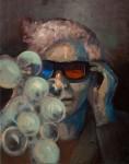 3-D Brille, 50x40cm, Öl auf Lwd, 2015