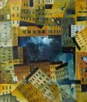 Im Strudel, 60 x 70 cm, Öl auf Leinwand, 2000