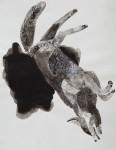 """""""o.T."""" Zeichentusche auf Papier, 25 x 20 cm, 2012"""