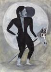 """""""Prince on a white horse"""" Zeichentusche auf Papier, 21 x 29,7 cm, 2014"""