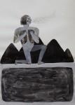 """""""o.T."""" Zeichentusche auf Papier, 21 x 29,7 cm, 2014"""