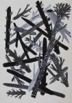 """""""Gehölz"""" Zeichentusche auf Papier, 21 x 29,7 cm, 2012"""