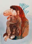 """""""Alf"""" Zeichentusche auf Papier, 24 x 17,6 cm, 2014"""