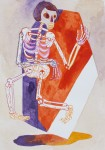 """""""o.T."""" Zeichentusche auf Papier, 15 x 10,5 cm, 2014"""