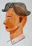 """""""Toupet"""" Zeichentusche und Acryl auf Karton, 15 x 10,5 cm, 2014"""