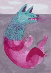 """""""Wolfskind"""" Zeichentusche auf Papier, 14,7 x 10,5 cm, 2013"""