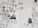 """""""o.T."""" Zeichentusche auf Papier, 29,7 x 40 cm, 2010"""