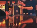 """""""Friends Bar"""" 30x40cm, Öl auf Leinwand, 2011, Foto © Britta von Willert"""