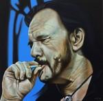 """Lemmy rauchend"" Öl auf Lwd, 50 x 50cm, 2016, Privatsammlung Berlin"