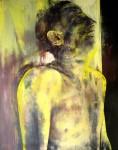 """""""Monolog XXVIII"""" Kunstharz, Eitempera und Öl auf Nessel, 240 x 190 cm, 1988, Foto © Jan Schüler"""