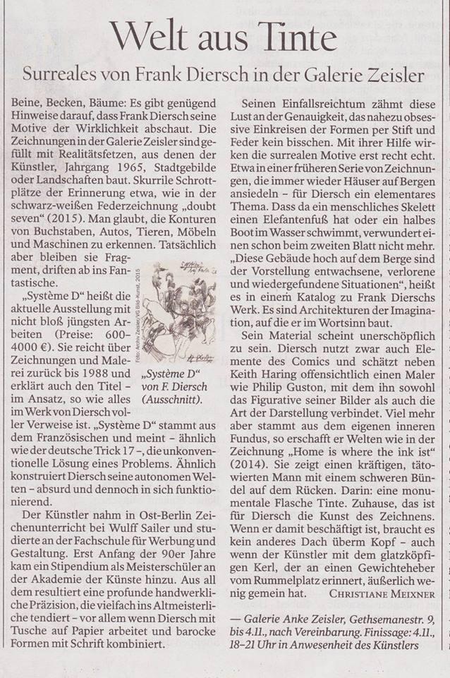 Frank Diersch - Tagesspiegel Welt aus Tinte