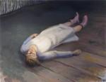 """STEFANIE HILLICH """"o.T."""" (Liegende Nr. 1), Öl auf Lwd, 40 x 50cm, 2016"""