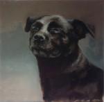 """STEFANIE HILLICH """"o.T."""" (Hund Nr. 2), Öl auf Lwd, 30 x 30cm, 2016"""